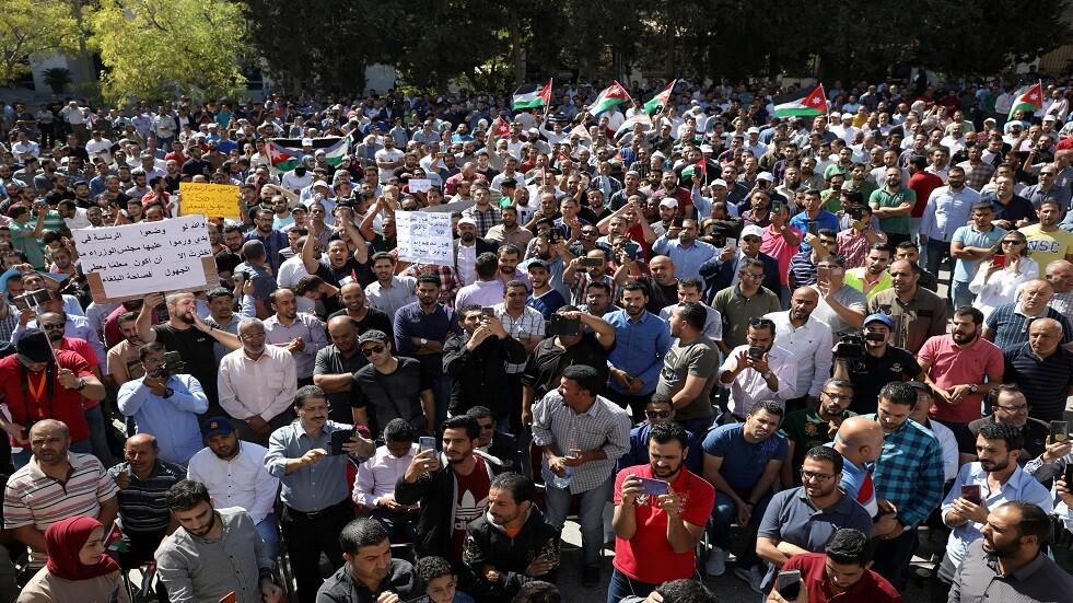 تظاهرة للمعلمين الأردنيين - أرشيف
