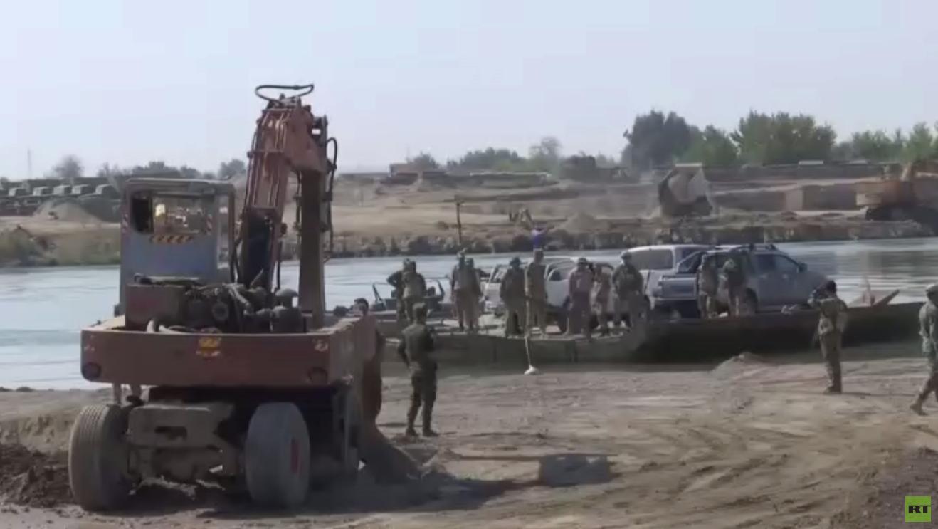 جهود سورية روسية لإنشاء جسر بدير الزور