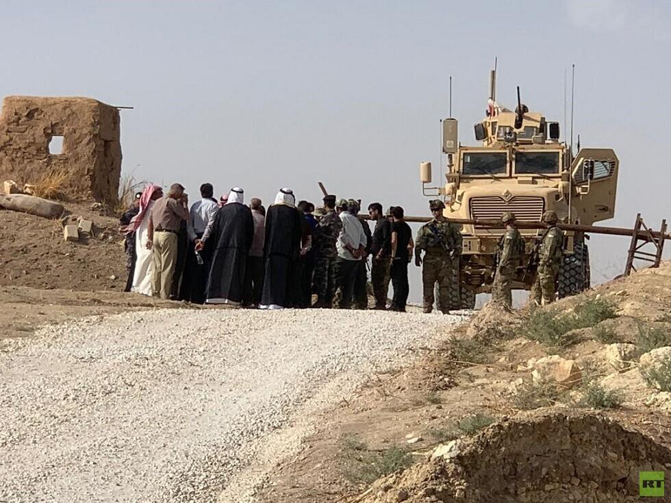 سوريا.. تظاهرة حاشدة أمام قاعدة أمريكية (صور)