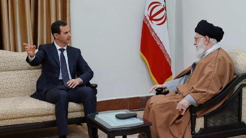 الأسد مع خامنئي في طهران، 25 فبراير 2019