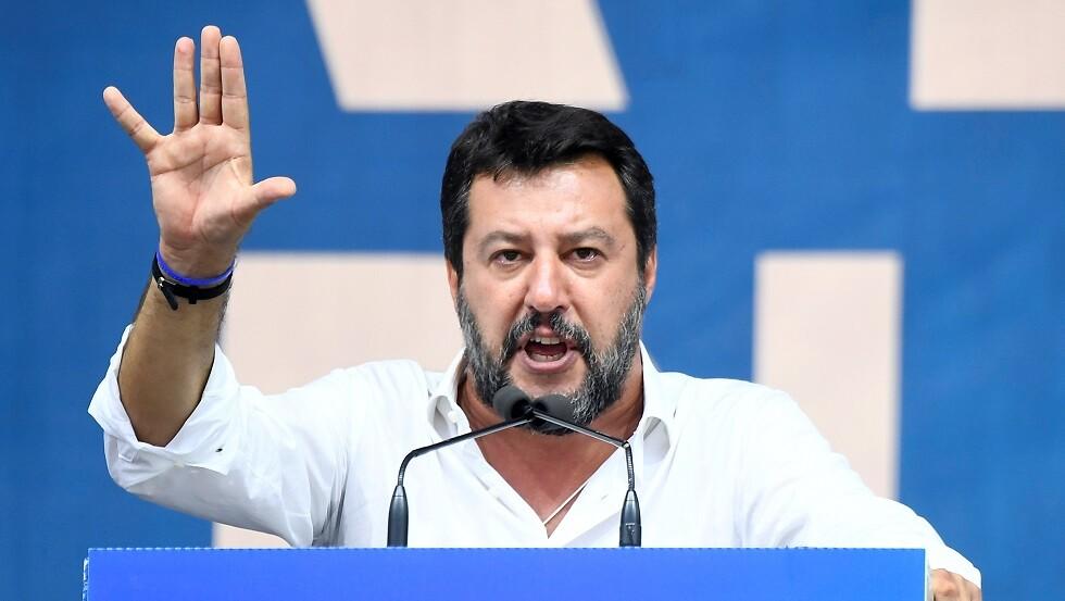 نائب رئيس الوزراء ووزير الداخلية الايطالي السابق ماتيو سالفيني