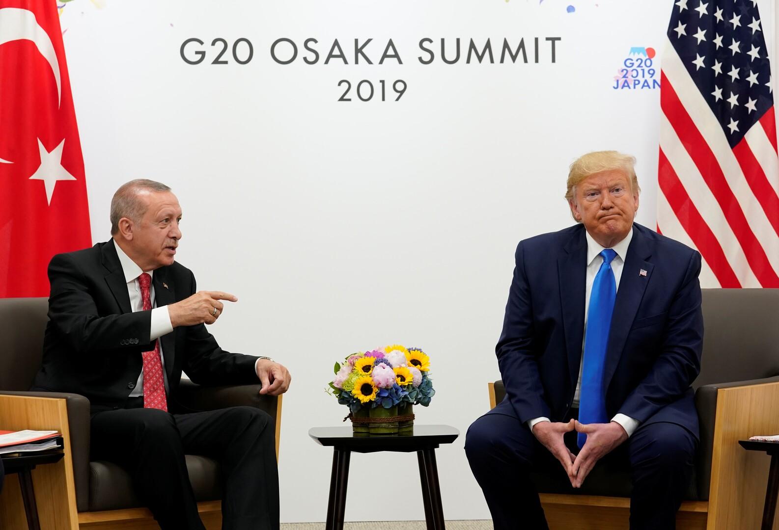 من الأرشيف - الرئيسان التركي والأمريكي في قمة العشرين باليابان