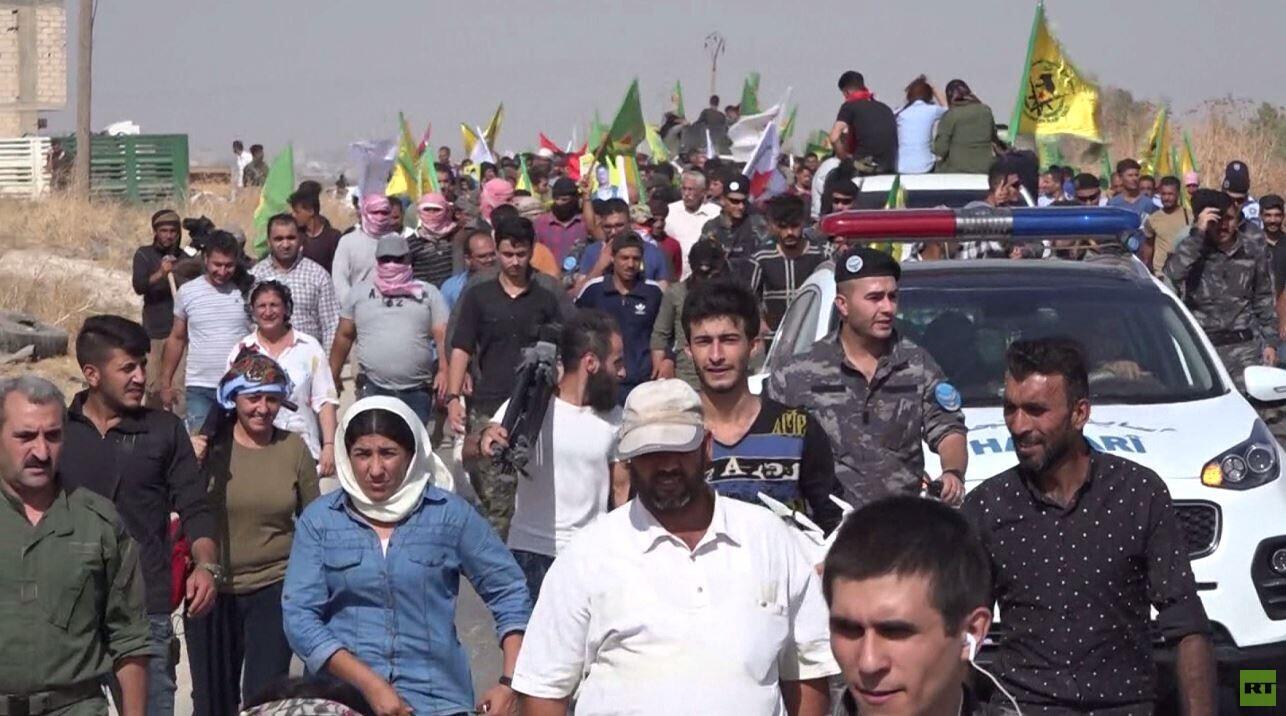 تظاهرات بشمال شرق سوريا ضد عملية أنقرة