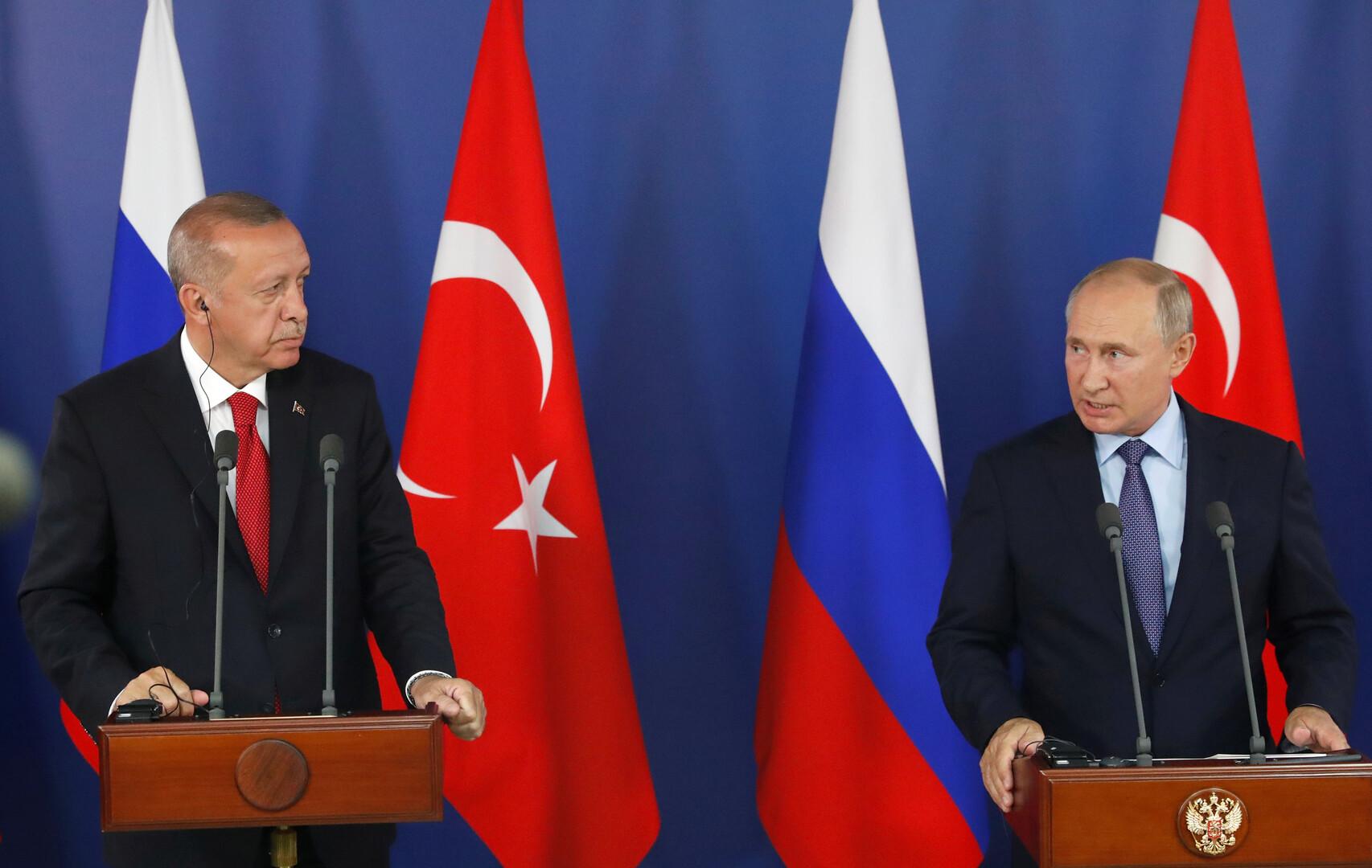 بوتين يدعو أردوغان إلى