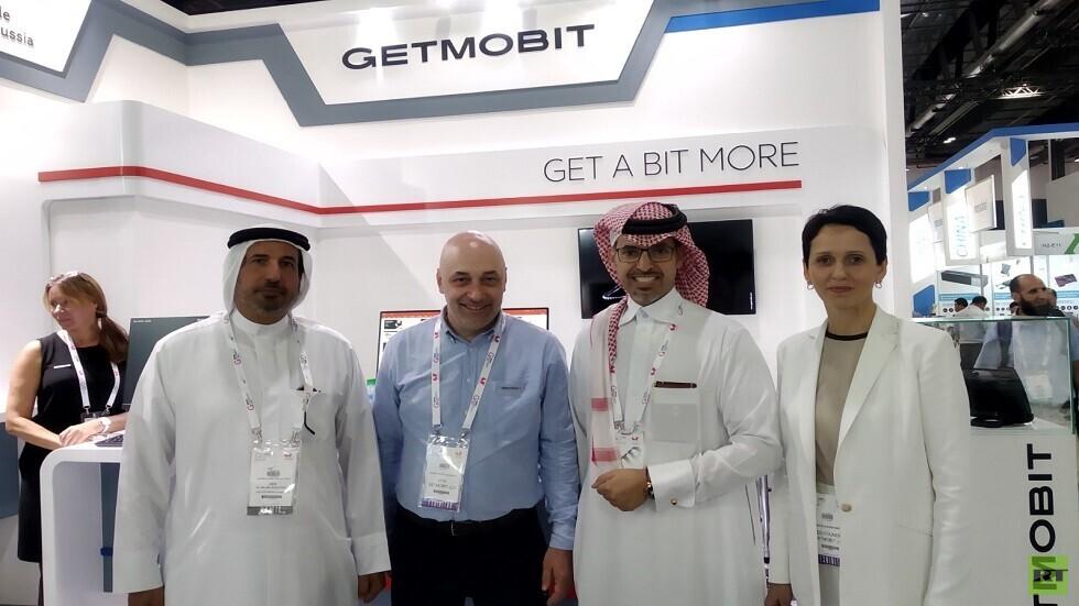 جناح شركة Getmobit في أسبوع جايتكس بدبي