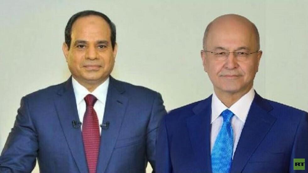 الرئيس المصري يبحث مع نظيره العراقي تطورات العملية العسكرية التركية في سوريا