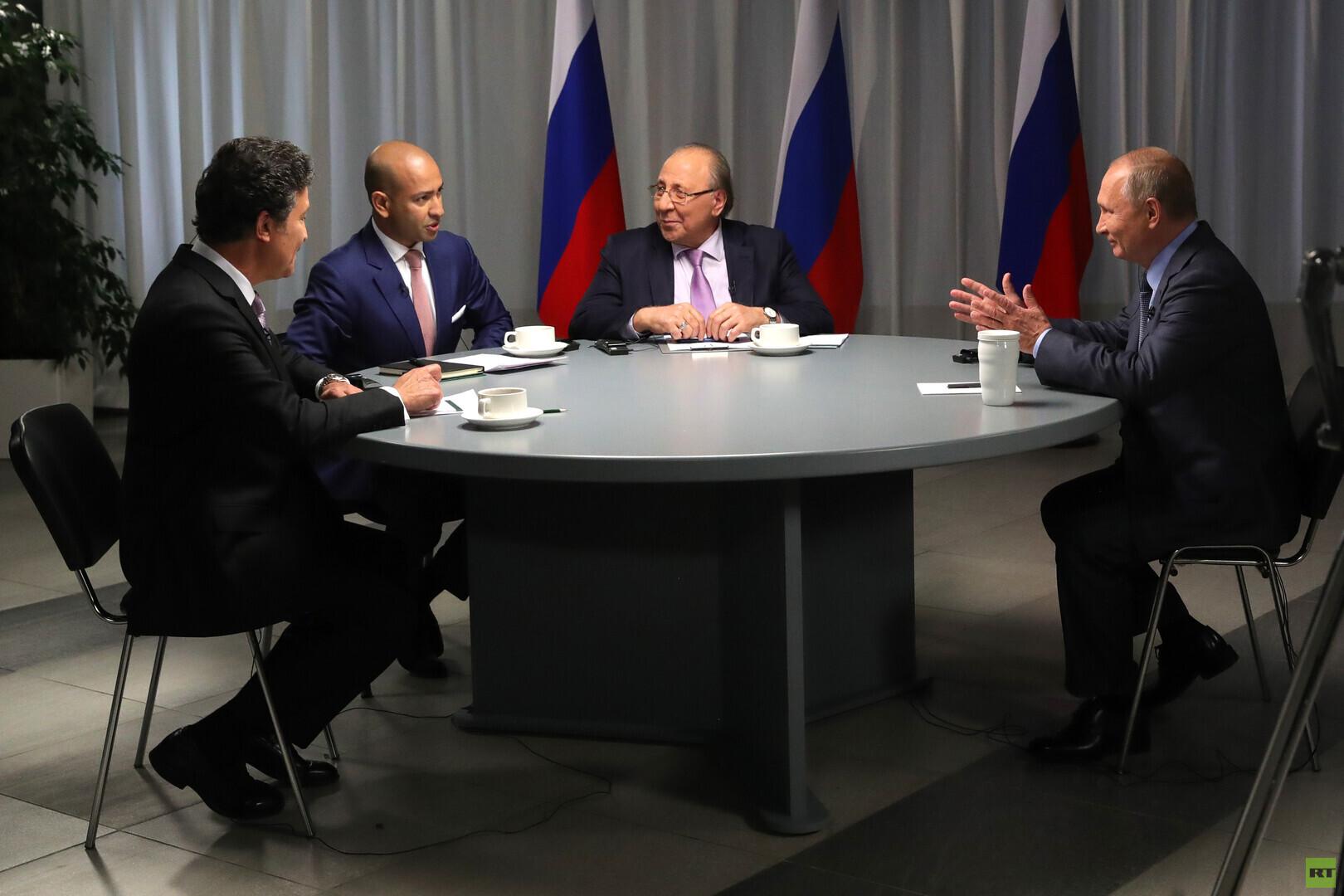 الرئيس الروسي خلال مقابلة مع RT و