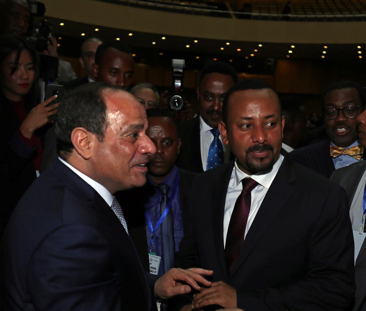 الرئيس المصري ورئيس وزراء إثيوبيا