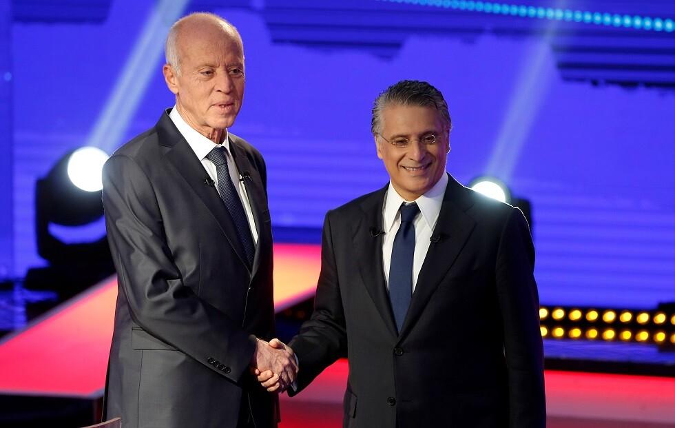 تونس.. وجها لوجه نبيل القروي وقيس سعيد في مناظرة تلفزيونية (فيديو) -