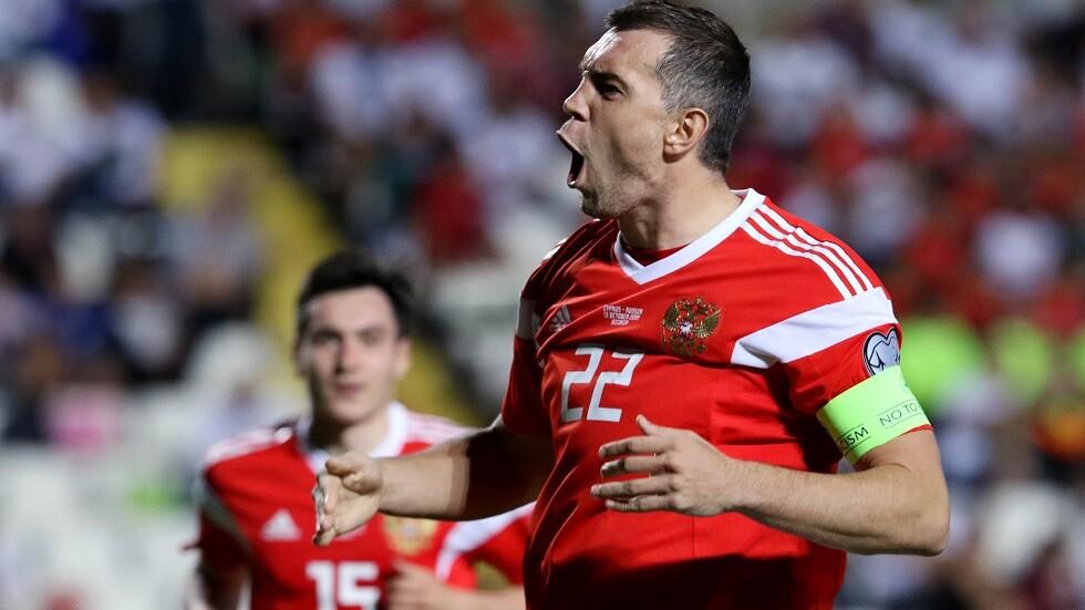 روسيا تقسو على قبرص بخماسية وتتأهل لكأس الأمم الأوروبية 2020