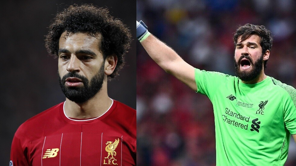 The position of Salah and Allison was revealed at Manchester United