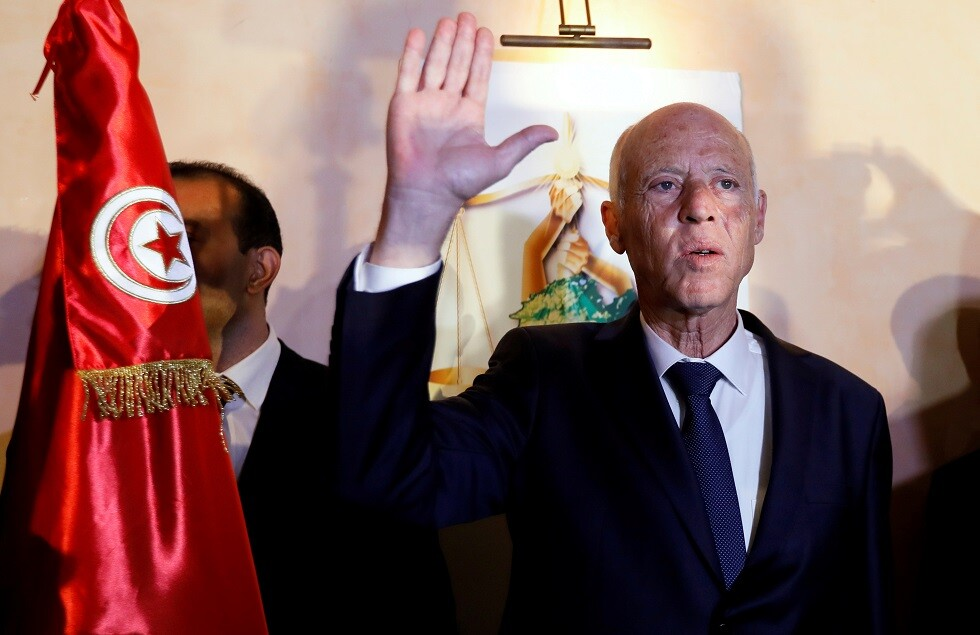 الرئيس التونسي المنتخب قيس سعيد