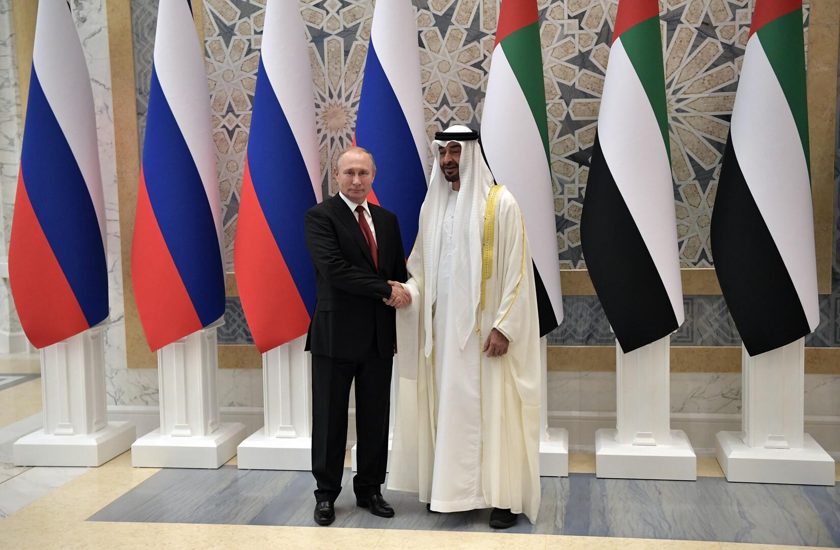 الرئيس الروسي وولي عهد أبوظبي