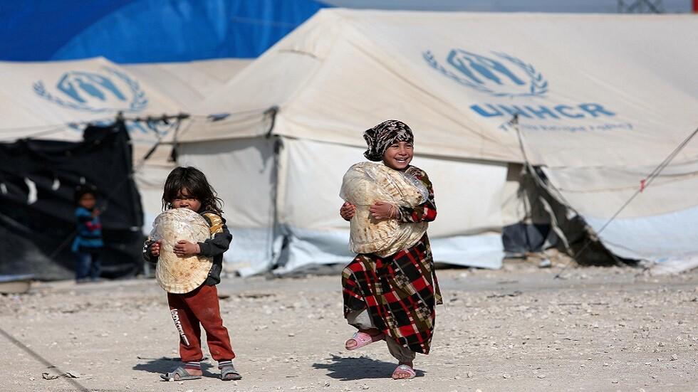 أطفال في مخيم الهول للنازحين شمالي سوريا (صورة أرشيغية)