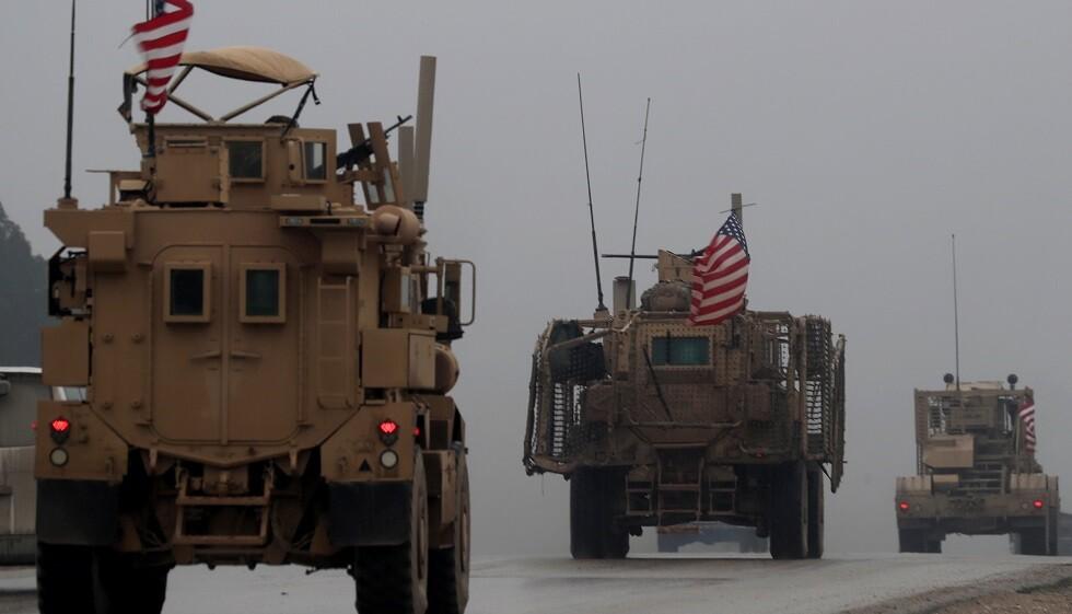 القوات الأمريكية بالقرب من منبج في سوريا (صورة من الأرشيف)