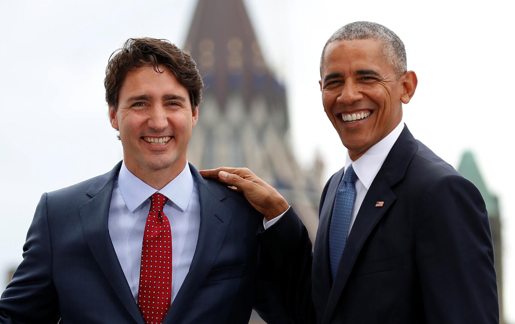 أوباما يدعو الكنديين لإعادة انتخاب ترودو
