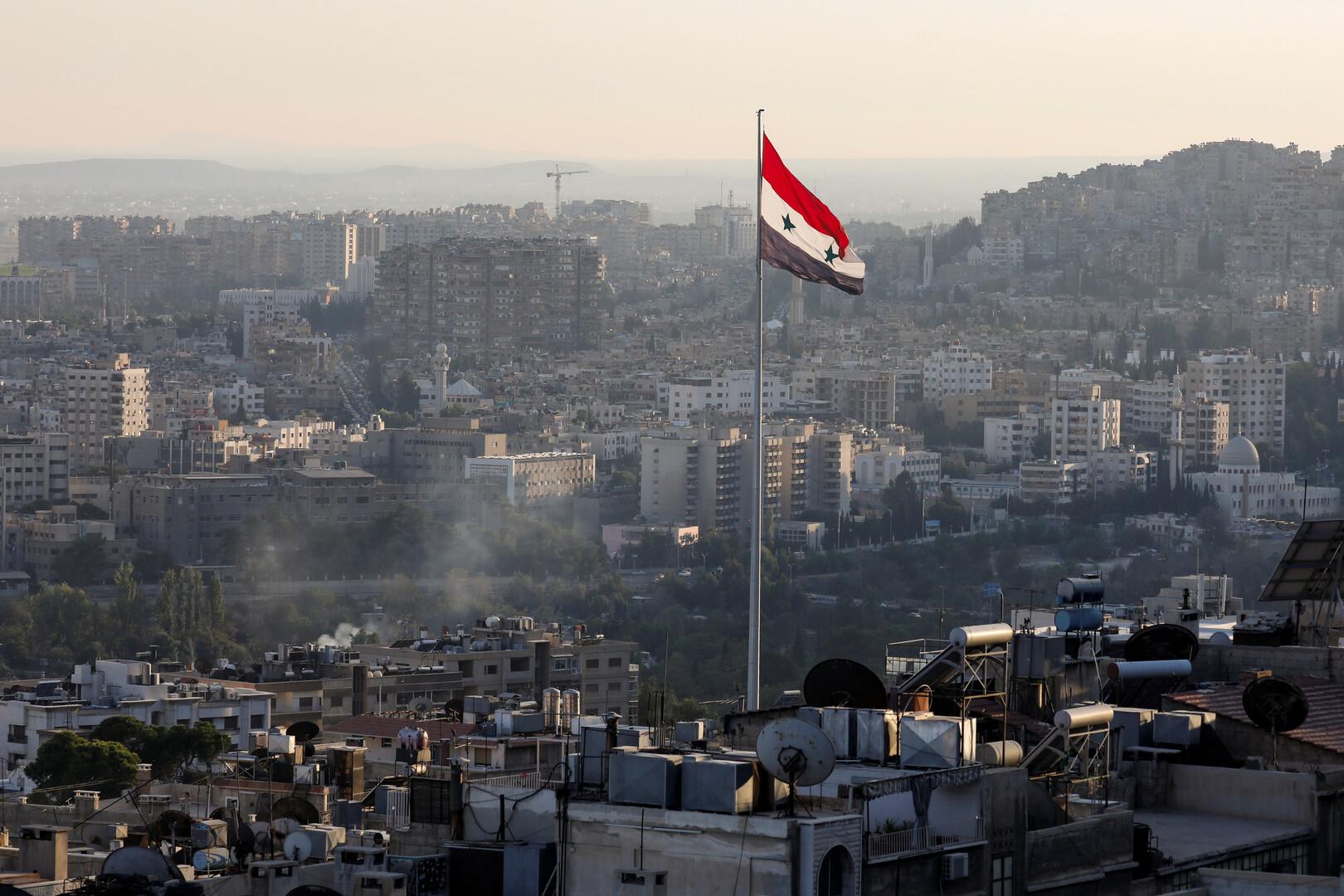 علم سوريا في دمشق
