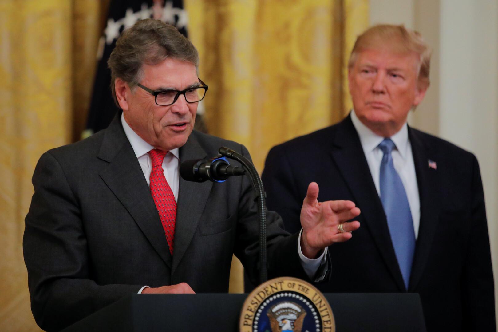 وسائل إعلام: وزير الطاقة الأمريكي يبلغ ترامب بتقديم استقالته قريبا