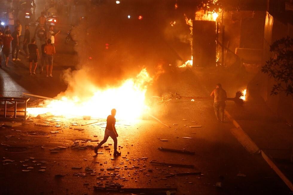 احتجاجات في العاصمة بيروت - 17 أكتوبر 2019 -