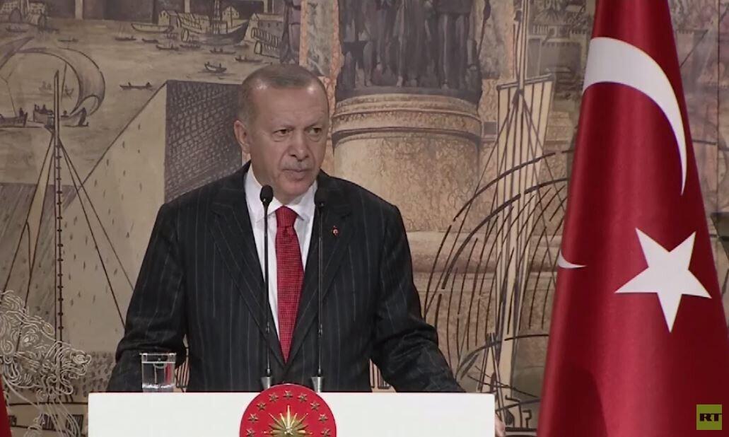 أردوغان: العملية العسكرية شمالي سوريا ستستأنف فورا إذا تم الإخلال بالاتفاق
