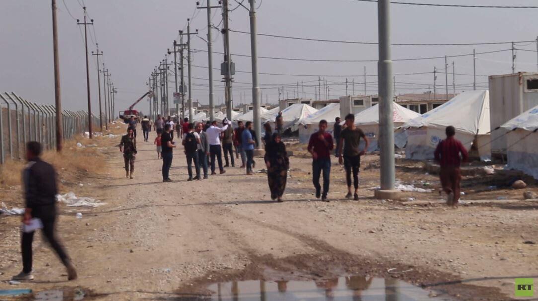 نزوح أكراد سوريين لإقليم كردستان العراق هربا من العملية التركية