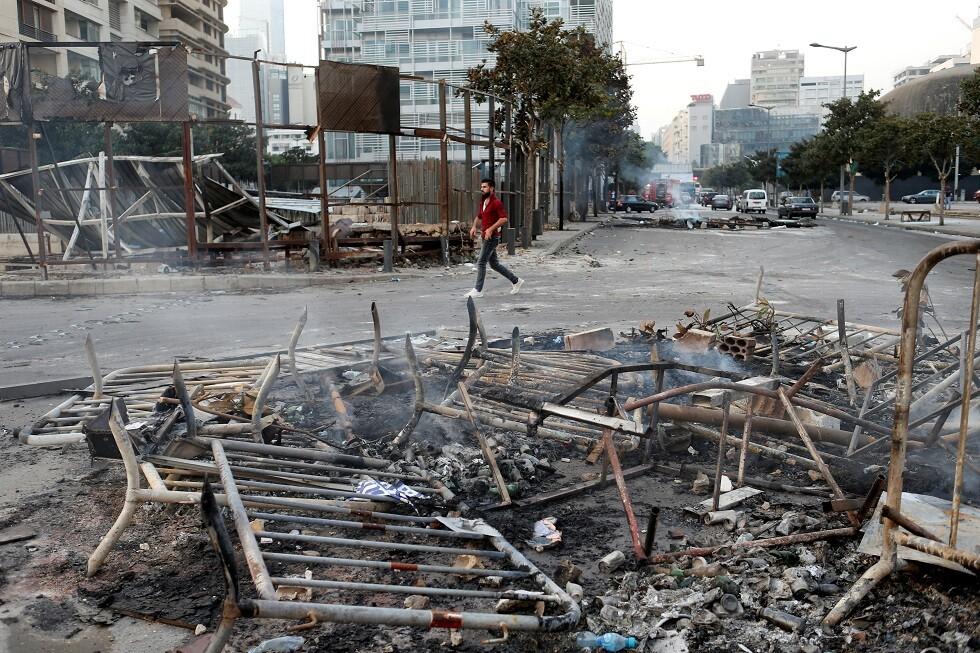 تظاهرات في العاصمة اللبنانية بيروت