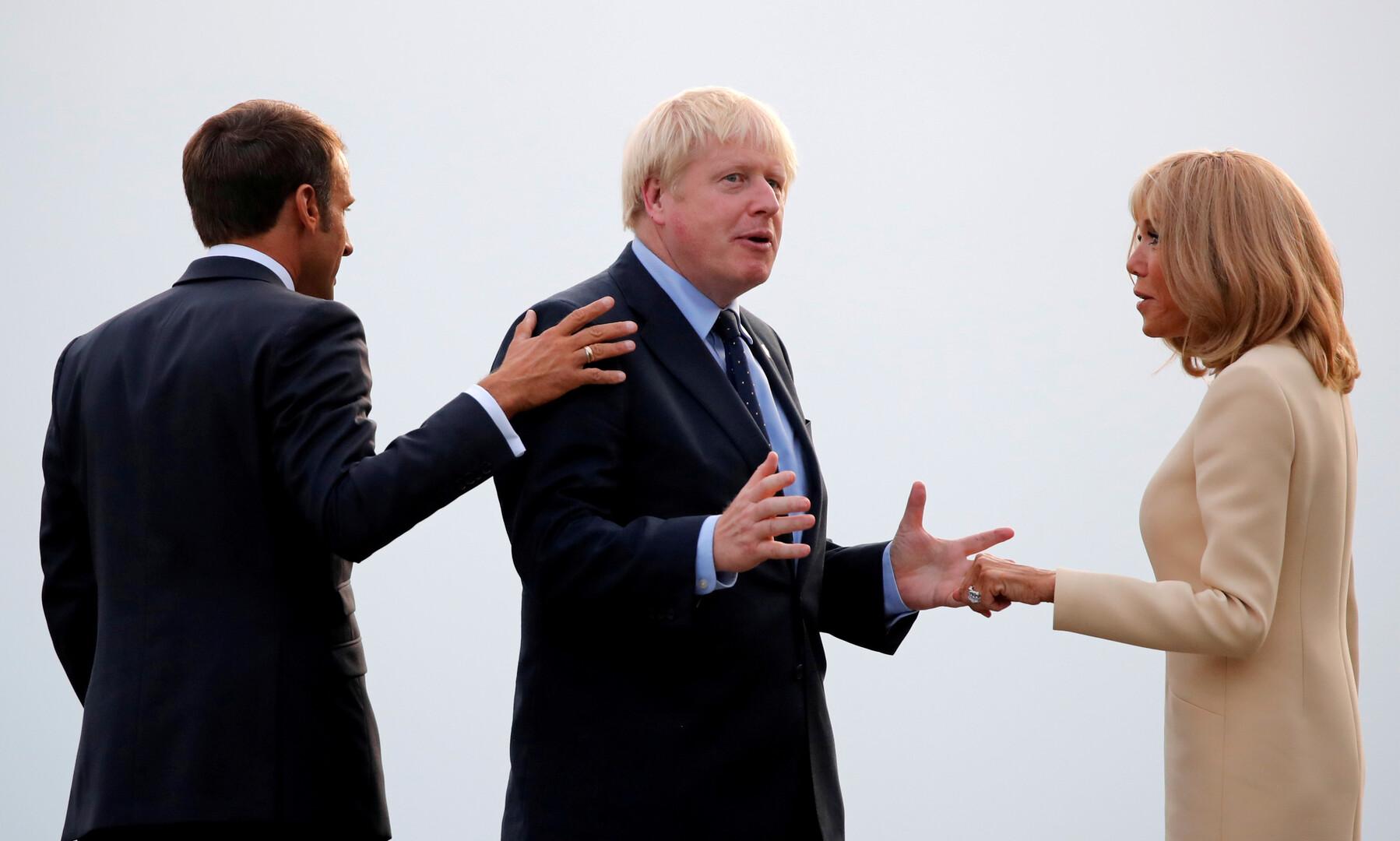 Image result for ماكرون يطالب جونسون بتوضيح موقف بريطانيا من