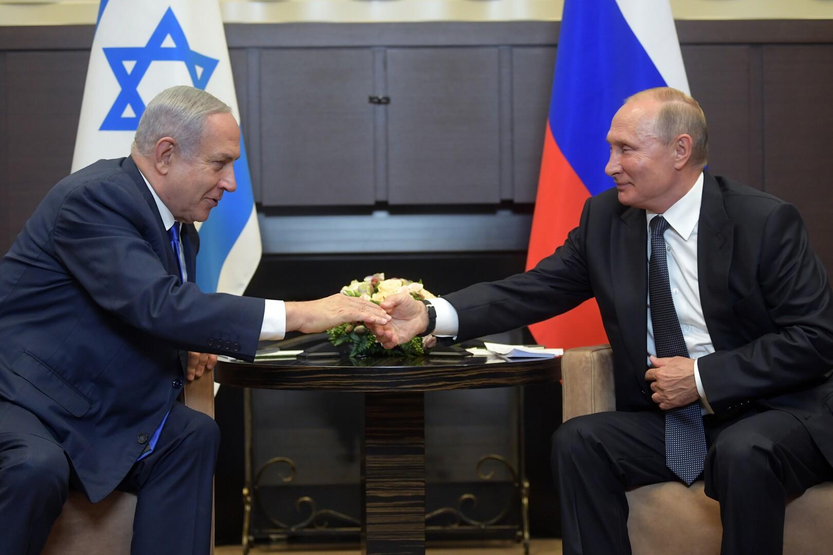 لقاء الرئيس الروسي فلاديمير بوتين ورئيس الوزراء الإسرائيلي بنيامين نتنياهو في مدينة سوتشي الروسية، 12 سبتمبر 2019