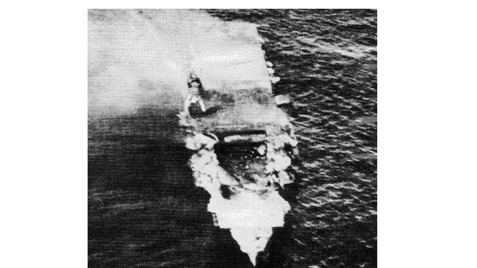 العثور على حاملة طائرات غرقت في المحيط الهادئ