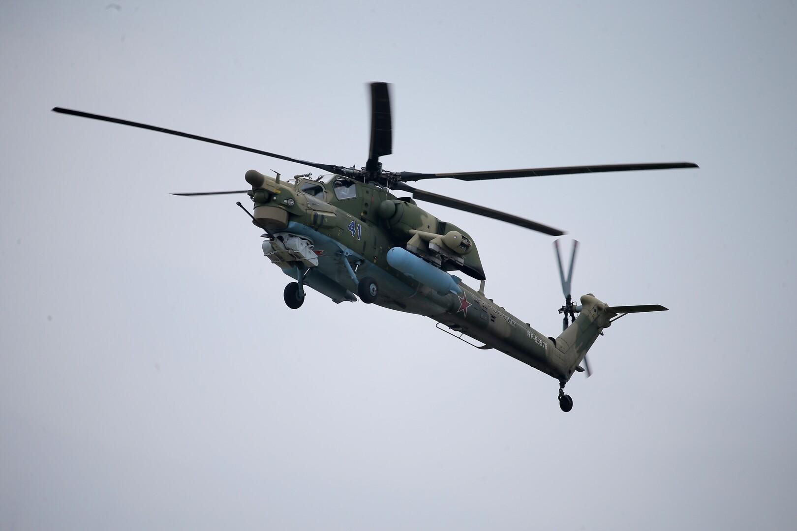 مروحيات حربية روسية تهبط في قاعدة أمريكية سابقة في الرقة