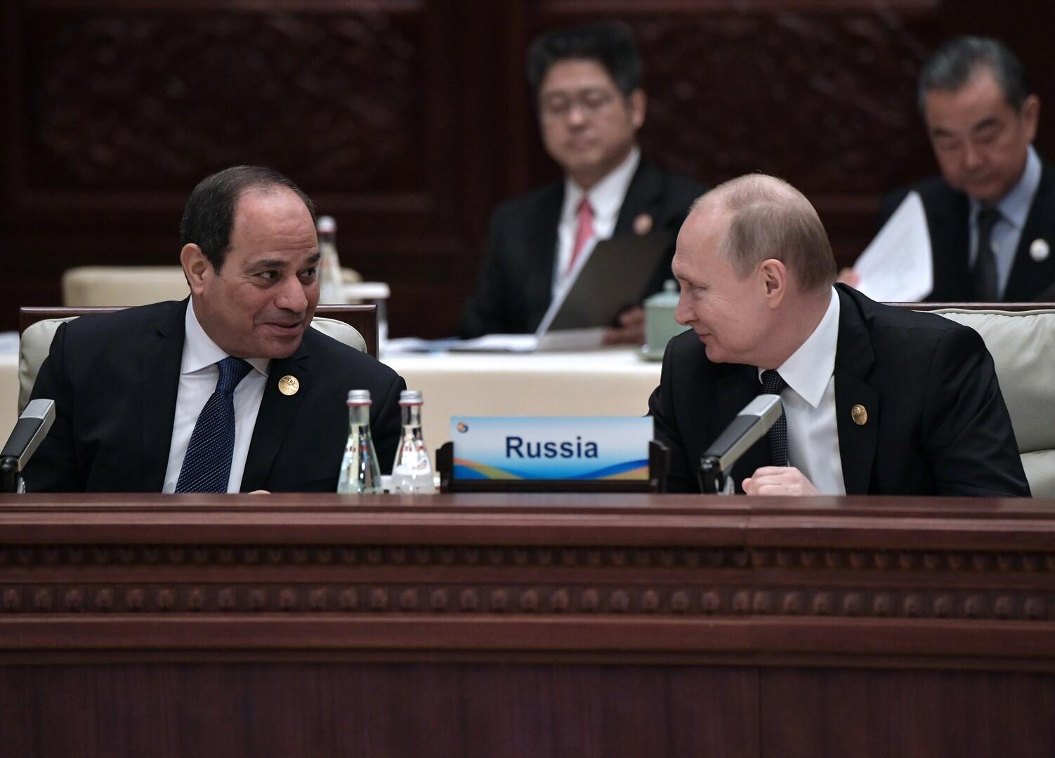 بوتين والسيسي سيناقشان عودة رحلات الطيران