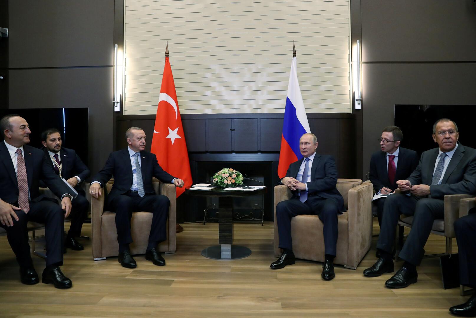محادثات بوتين وأردوغان في سوتشي مستمرة منذ 5 ساعات