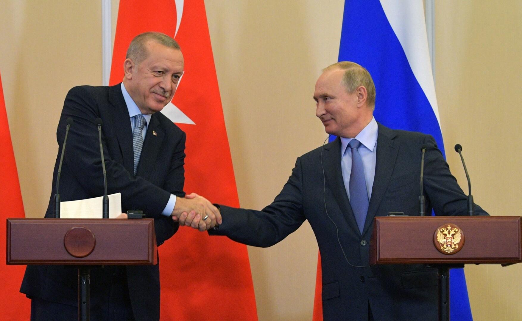 بوتين: توصلنا مع أردوغان إلى حلول مصيرية حول سوريا