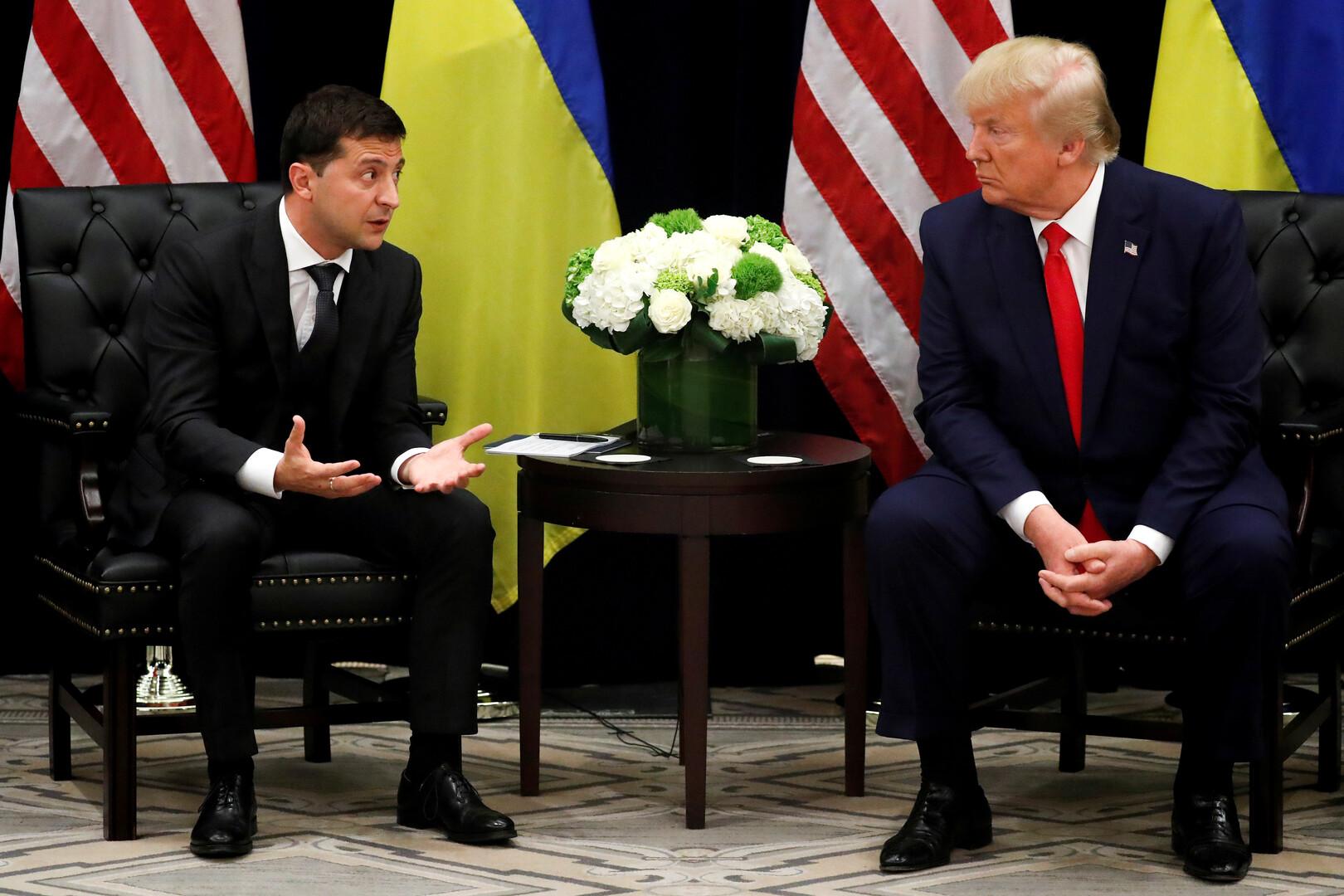 لقاء الرئيسين الأمريكي دونالد ترامب والأوكراني فلاديمير زيلينسكي في نيويورك، 25 سبتمبر 2019