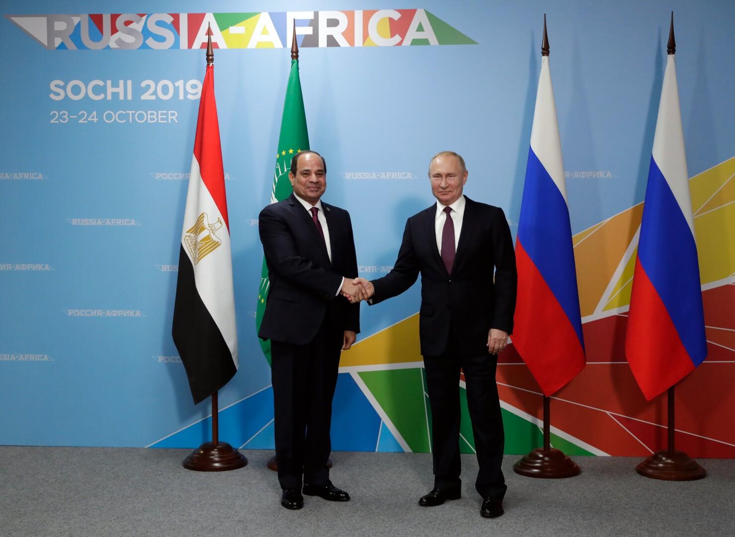 بوتين: الإمارات تهتم بالمشاريع الروسية-المصرية المشتركة في مجال الصناعة