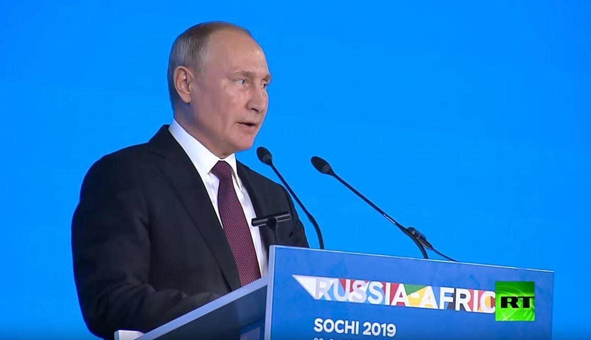 بوتين يرفع نخب الترحيب بزعماء وقادة إفريقيا