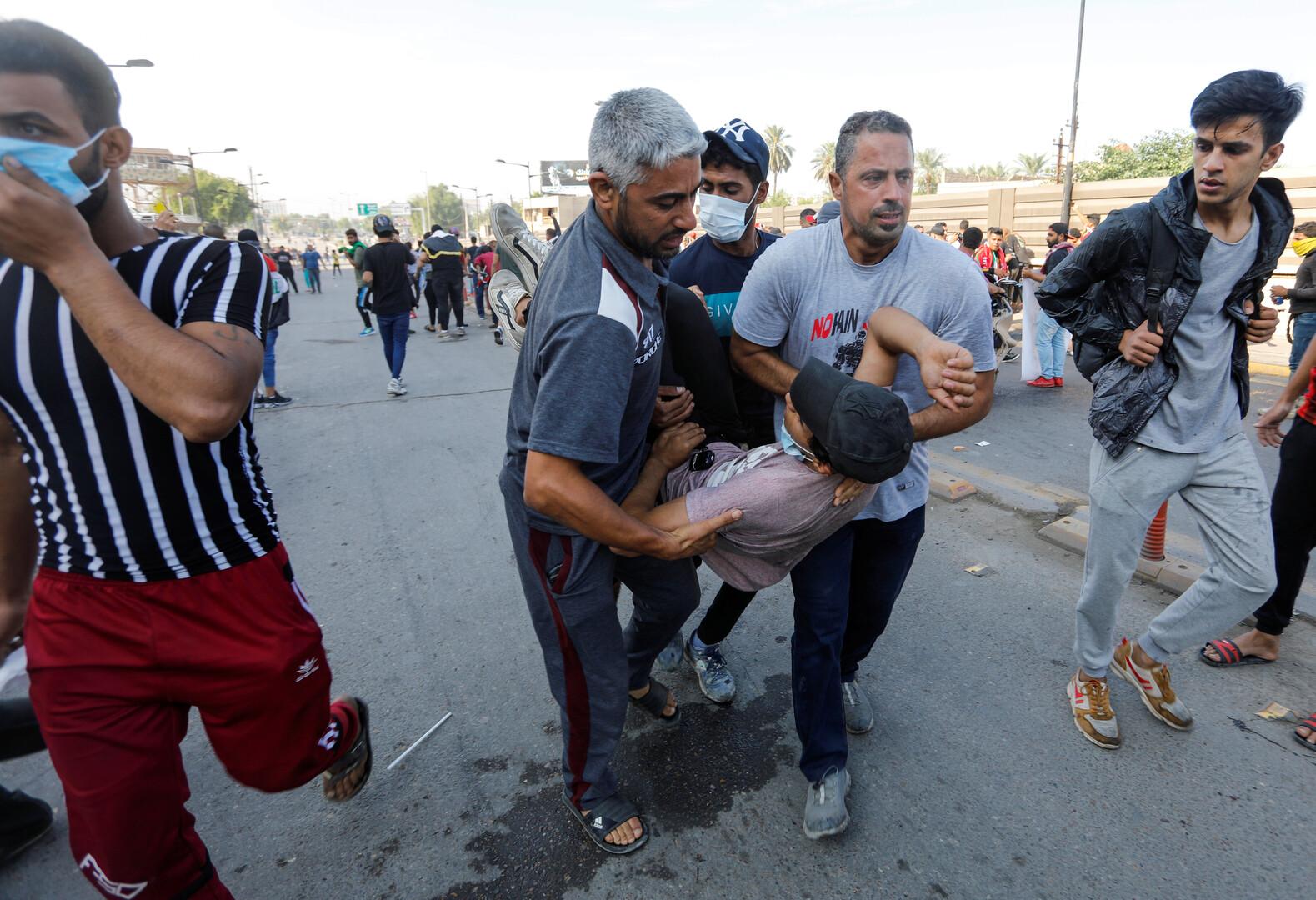 العراق.. الأمن يستخدم الغاز المسيل للدموع على أبواب المنطقة الخضراء