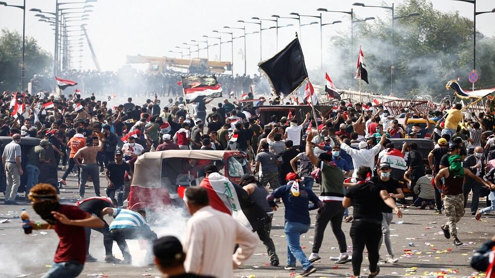 الاحتجاجات العراقية لحظة بلحظة