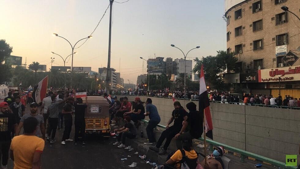 ساحة التحرير وسط العاصمة العراقية بغداد