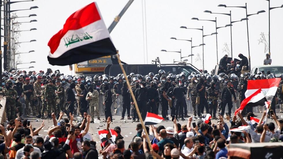 الاحتجاجات في العراق - بغداد - أرشيف