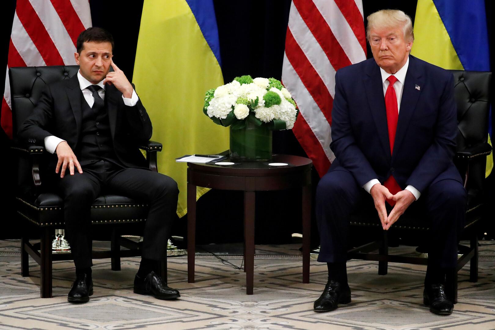 ترامب بالخطأ يسمي زيلينسكي