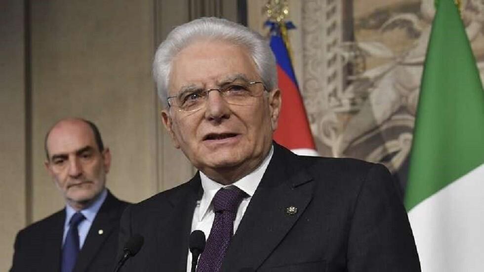 الرئيس الإيطالي، سيرجو ماتاريلا (صورة أرشيفية)