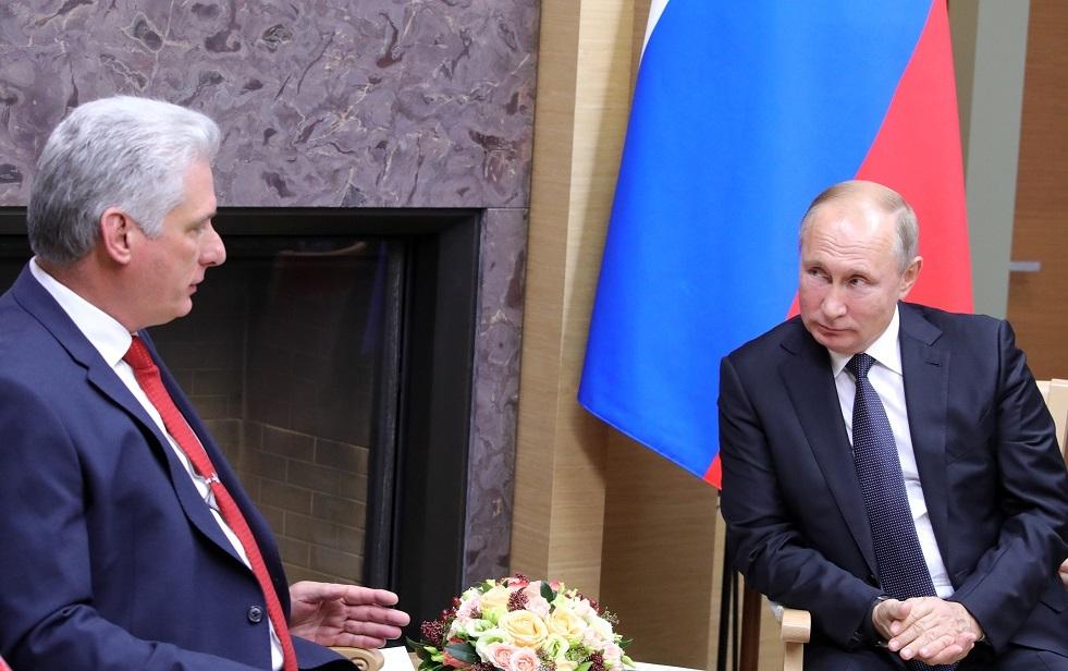 بوتين يلتقي الرئيس الكوبي في موسكو