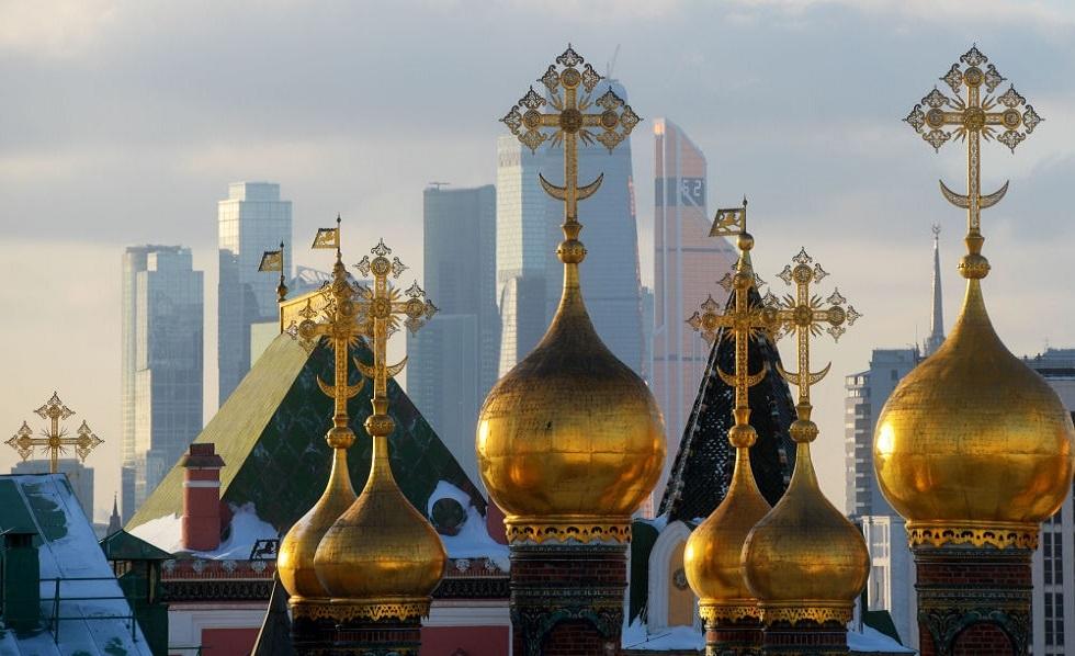 قباب الكنائس قرب الكرملين