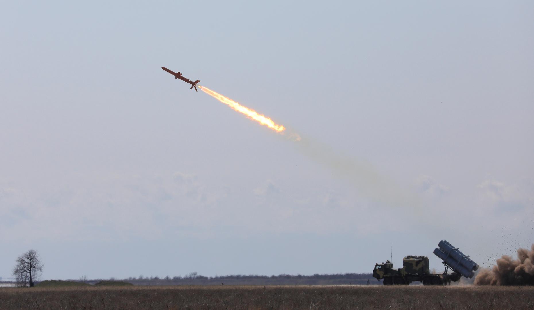 صورة أرشيفية لاختبار صواريخ قرب أوديسا