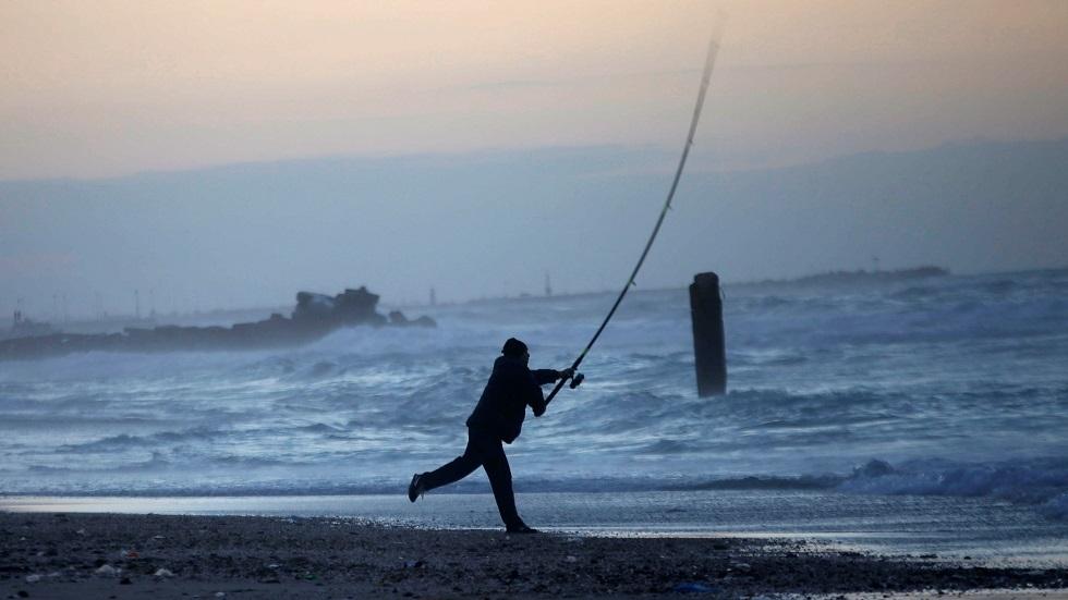صياد سمك في قطاع غزة - أرشيف