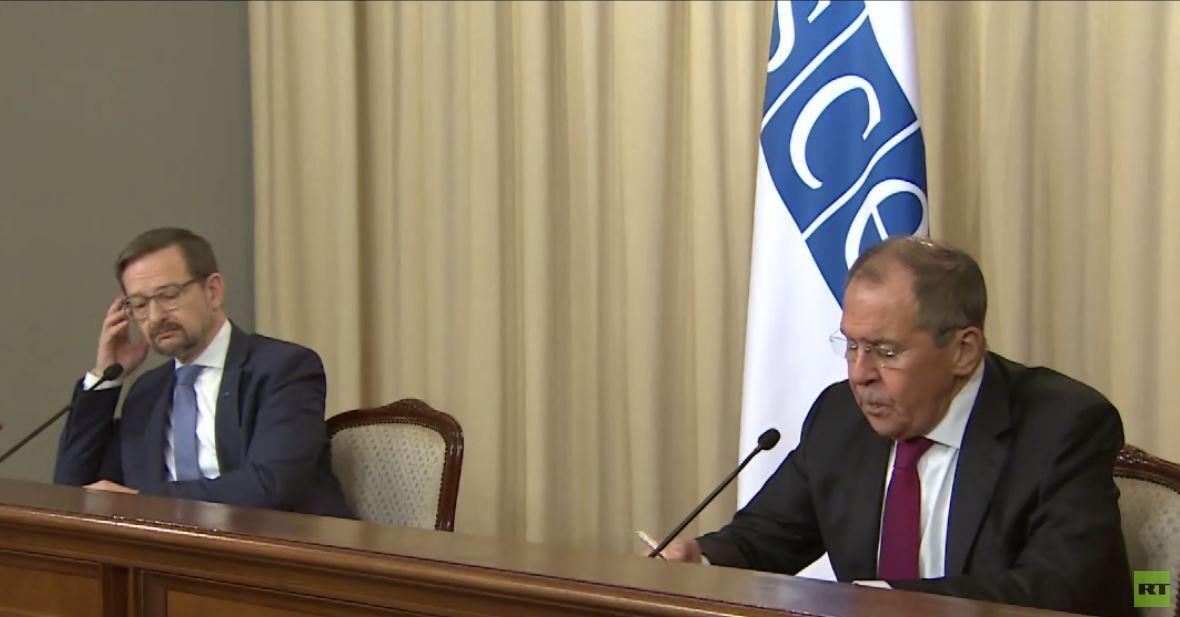 لافروف: موقفنا ثابت من اتفاقات مينسك ولا بديل لها لتجاوز الأزمة شرقي أوكرانيا