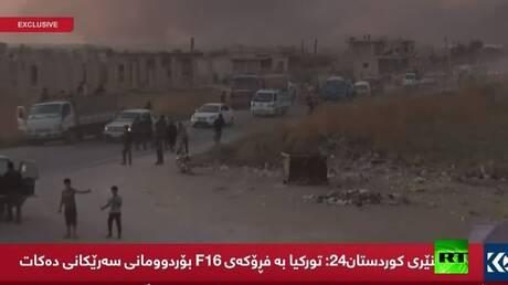 اللقطات الأولى عقب انطلاق العملية العسكرية التركية شمال شرقي سوريا