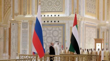 بوتين وبن زايد يترأسان محادثات روسية إماراتية في أبو ظبي