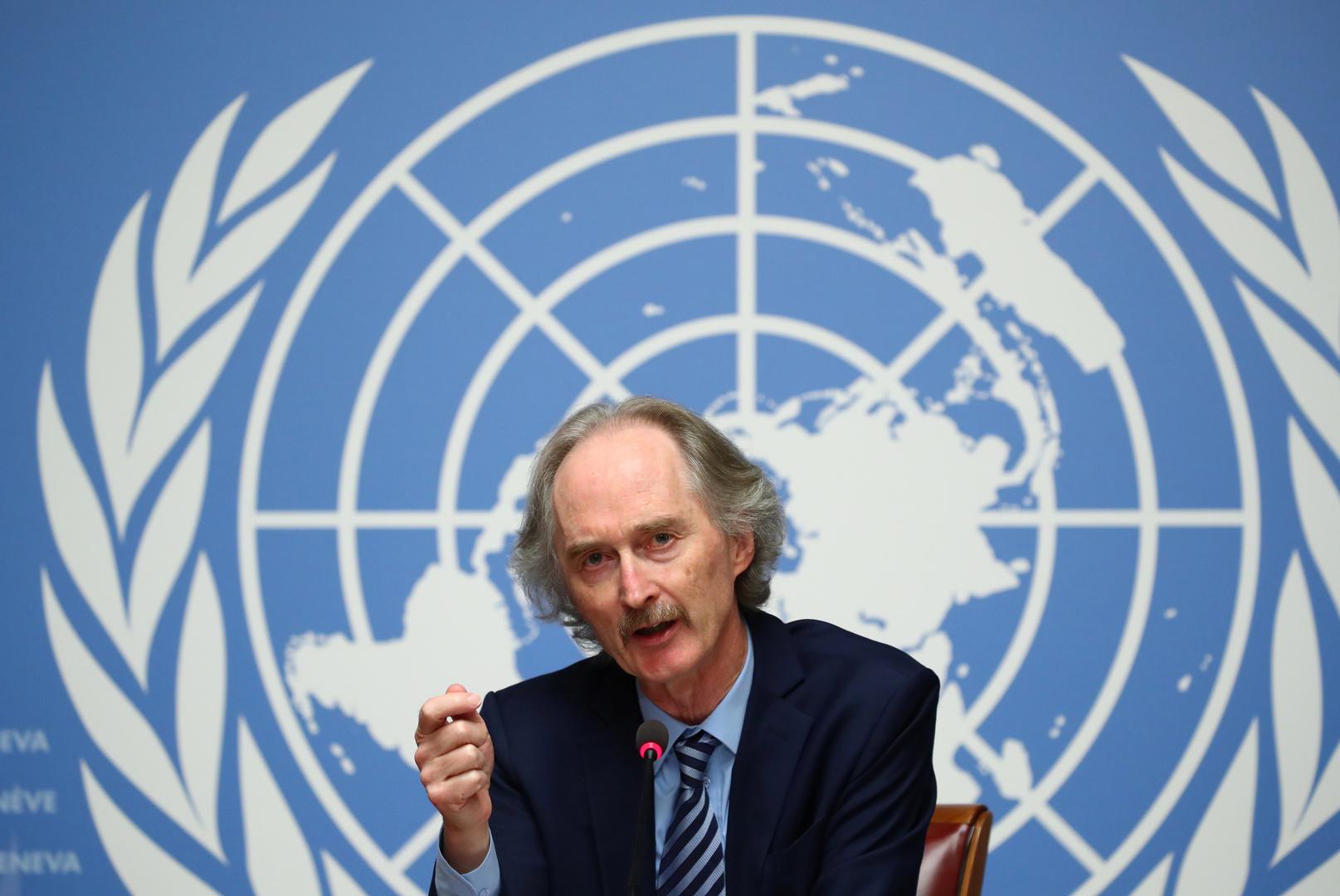 المبعوث الأممي الخاص إلى سوريا، غير بيدرسون